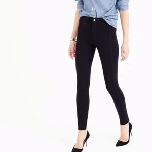 J. Crew Pixie Snap Front Slim Leg Black Pants | 6R